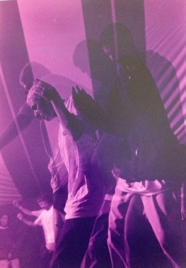Pic of Jason (RIP) & I dancing in the main tent Friday night